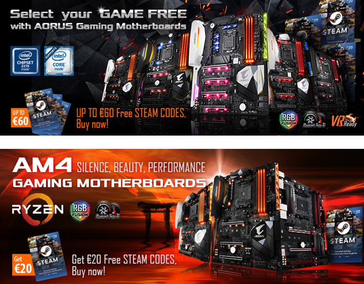 Buy the Latest GIGABYTE AORUS Motherboards and Receive up to €60 in