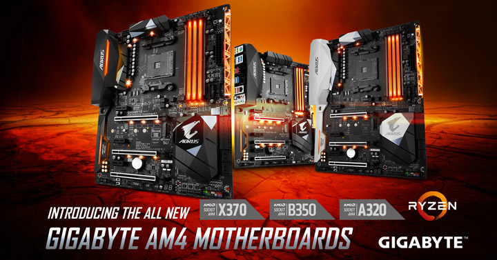 GIGABYTE's AM4 Motherboards- a Perfect Match for the AMD