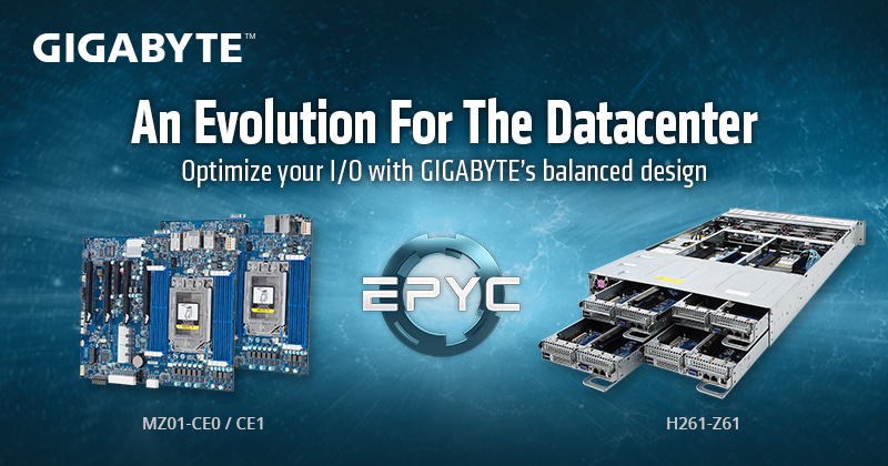 GIGABYTE Bringing More EPYC Choices with New Motherboards
