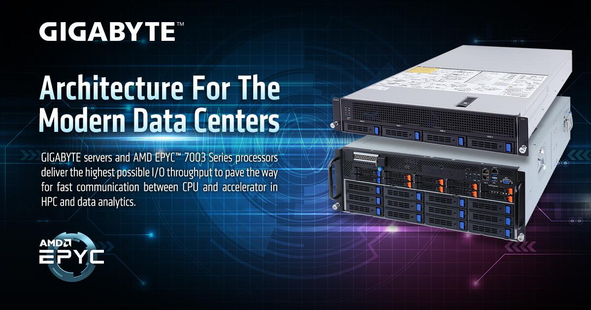 GIGABYTE Servers and AMD EPYC 7003 Series Processors