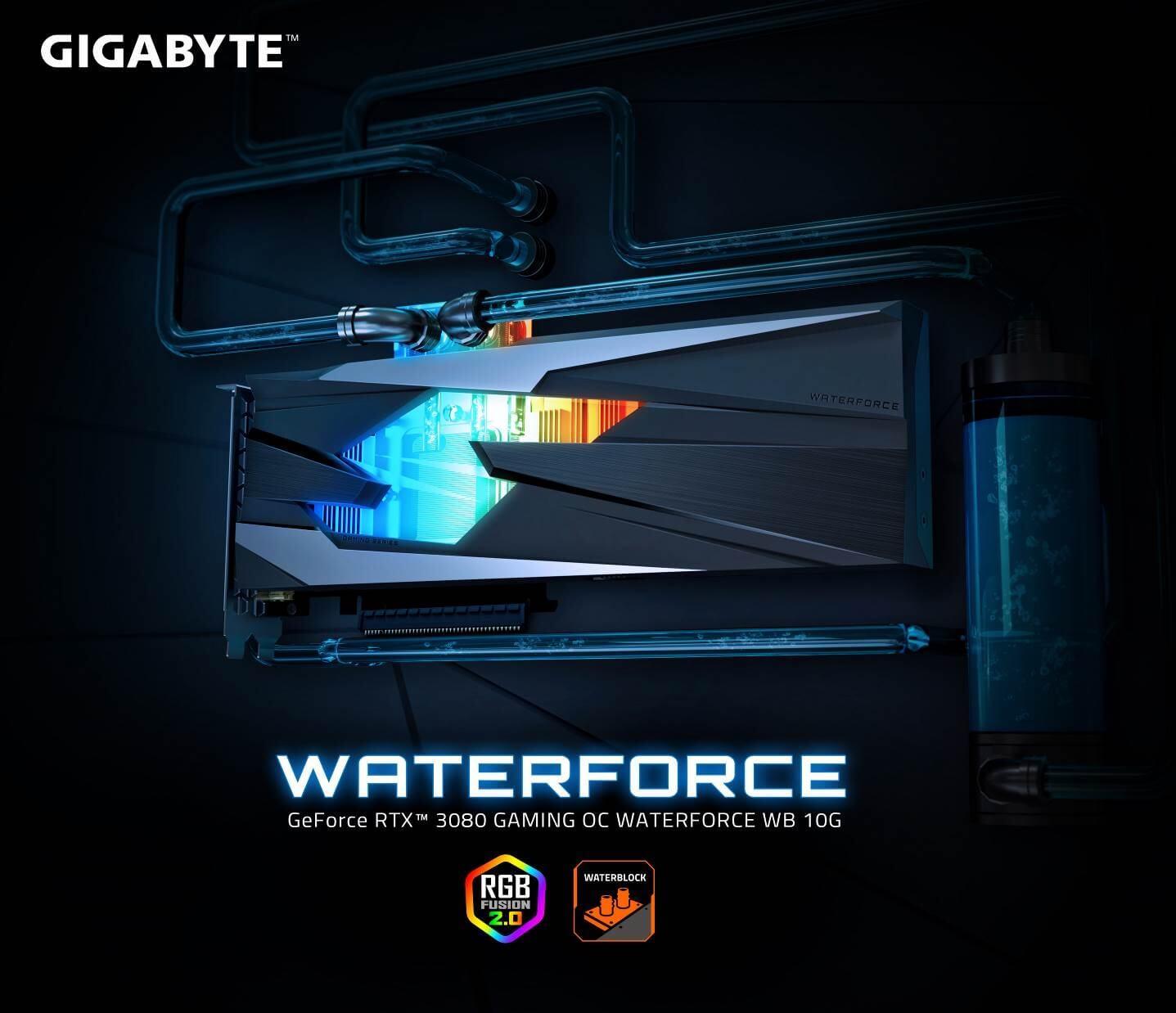 技嘉隆重推出GeForce RTX™ 3080 GAMING OC WATERFORCE WB 10G水冷顯示卡