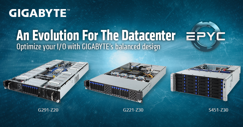 GIGABYTE Adds New GPU & Storage Servers to AMD EPYC Server