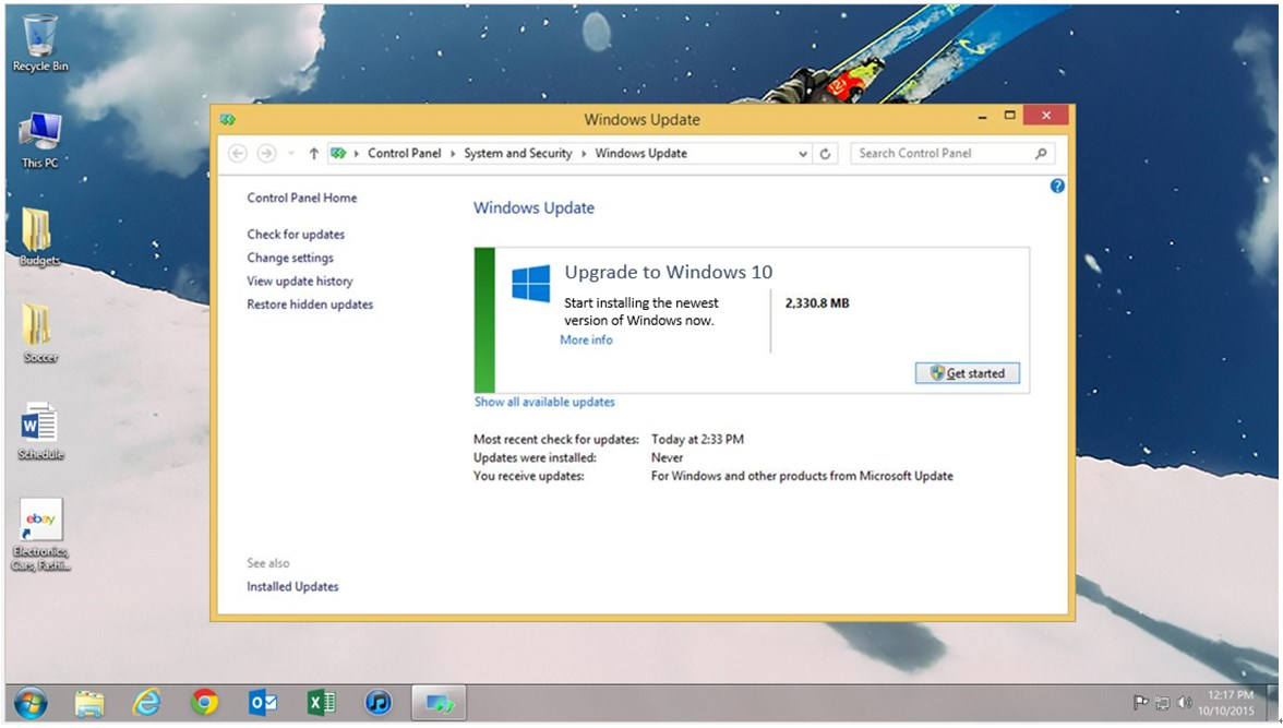 manually upgrade windows 8.1 to 10